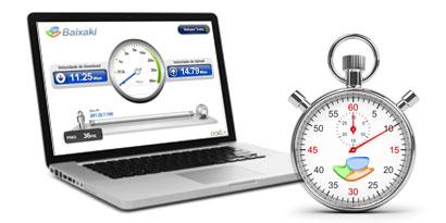 Imagem de Verifique sua conexão com o Teste de Velocidade do Baixaki no site TecMundo