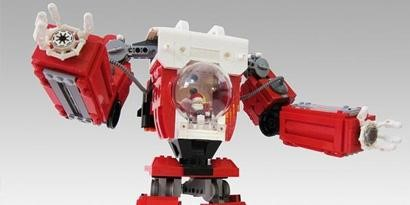 Imagem de Artista usa LEGO para criar boneco de Papai Noel dentro de robô gigante no site TecMundo