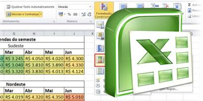 Imagem de Excel: usando a formatação condicional de células no site TecMundo