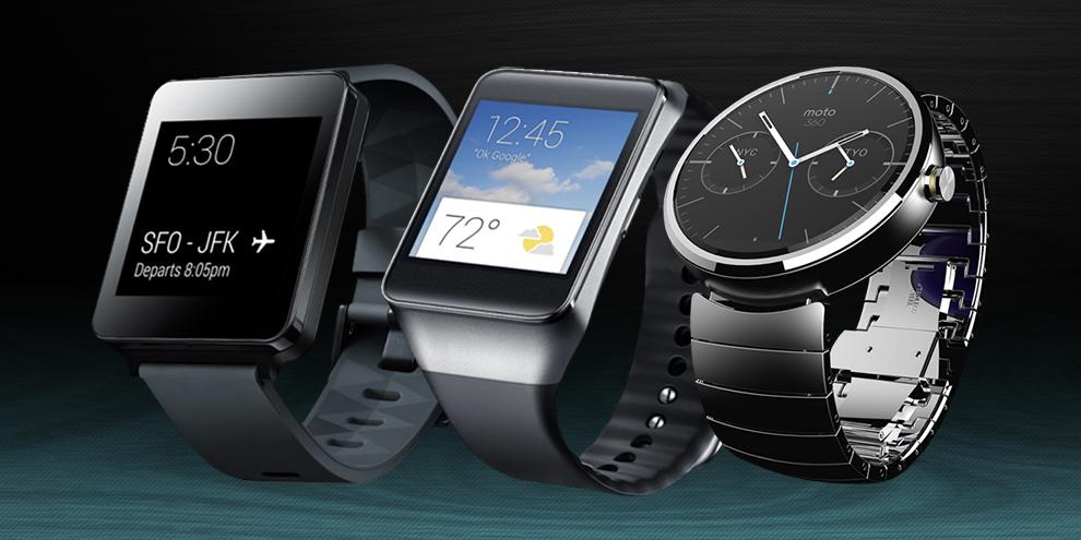 Imagem de Comparação: smartwatches LG G Watch, Samsung Gear Live e Moto 360 no site TecMundo