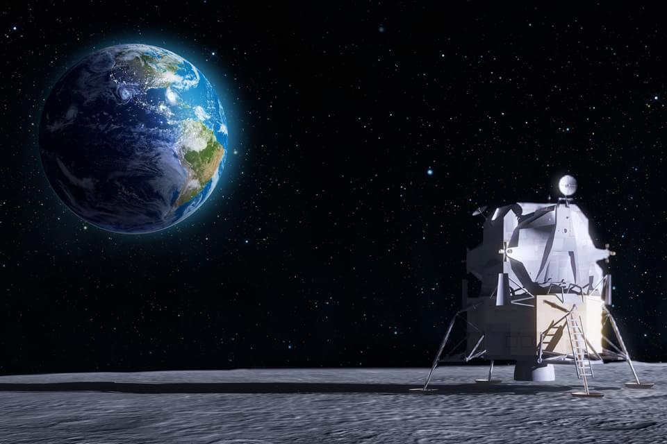 """Imagem de China vai """"minerar"""" hélio-3 da Lua para fusão nuclear no site TecMundo"""