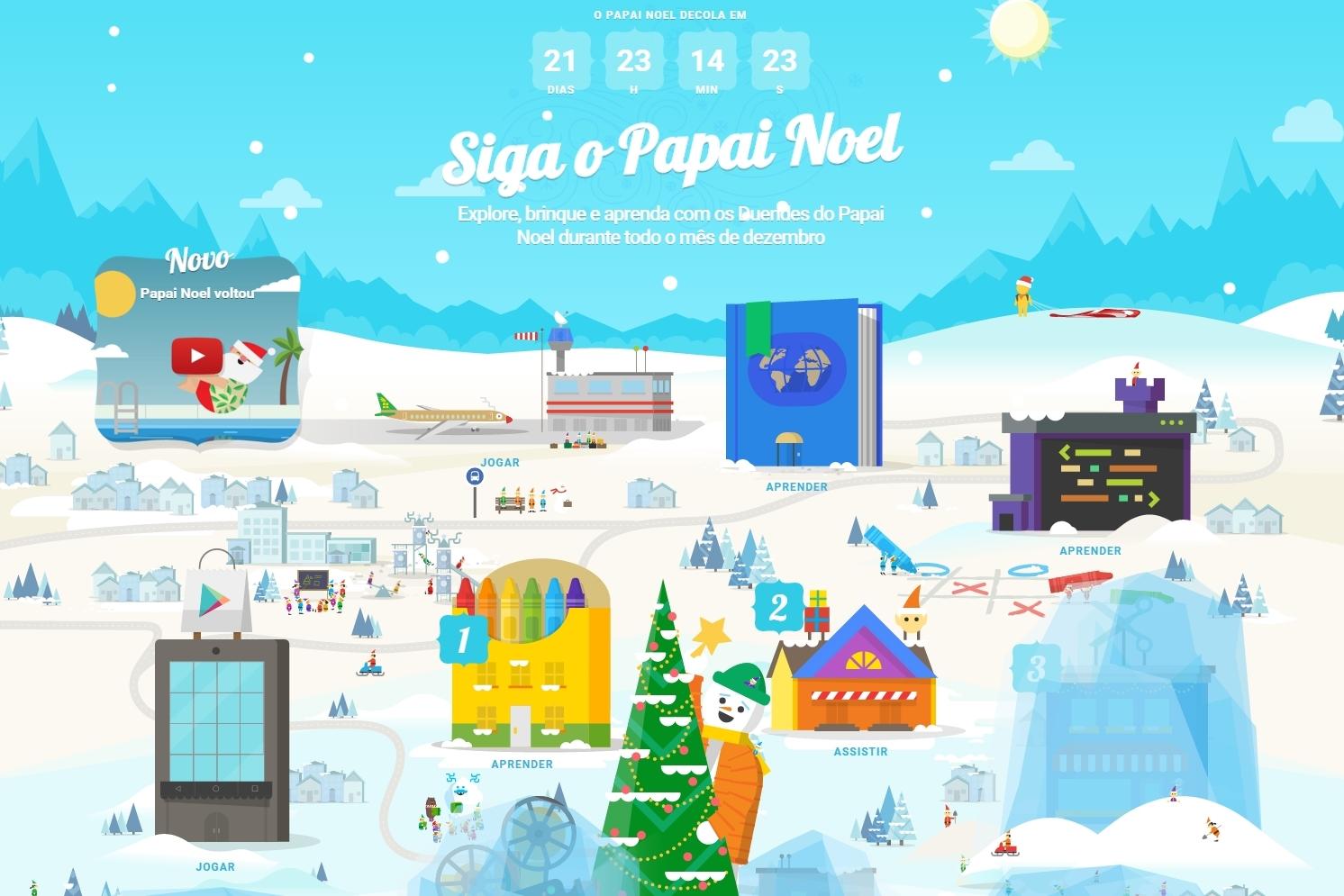 Imagem de Santa Tracker 2015: prepare-se para o Natal com minigames diários da Google no tecmundo