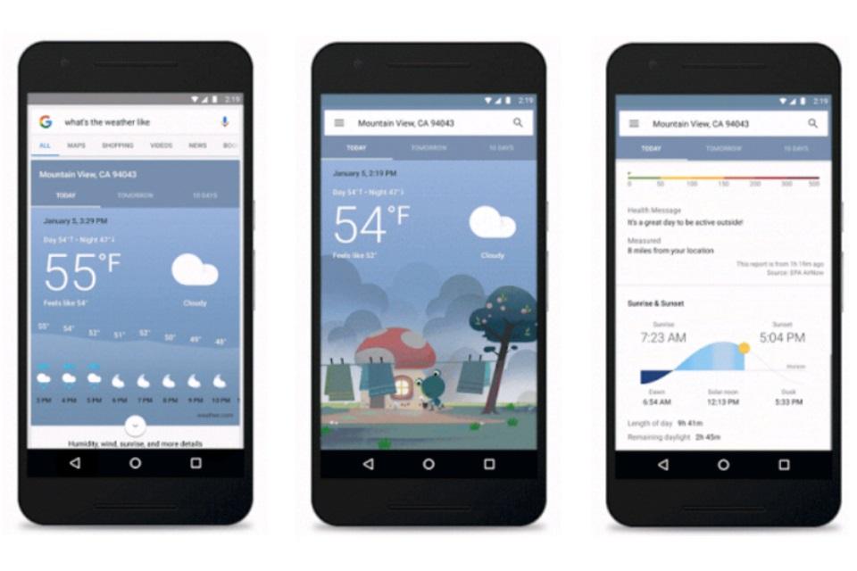 Imagem de Previsão do tempo no Google Now ganha visual novo e mais informações no tecmundo
