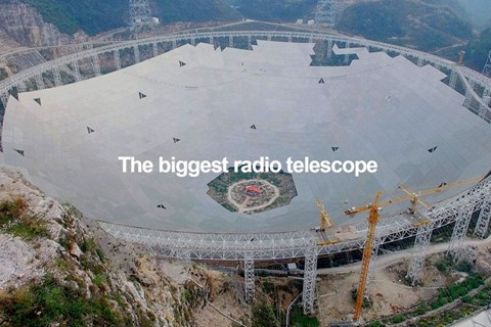 Imagem de Telescópio chinês gigantesco que vai buscar vida alienígena está finalizado no tecmundo