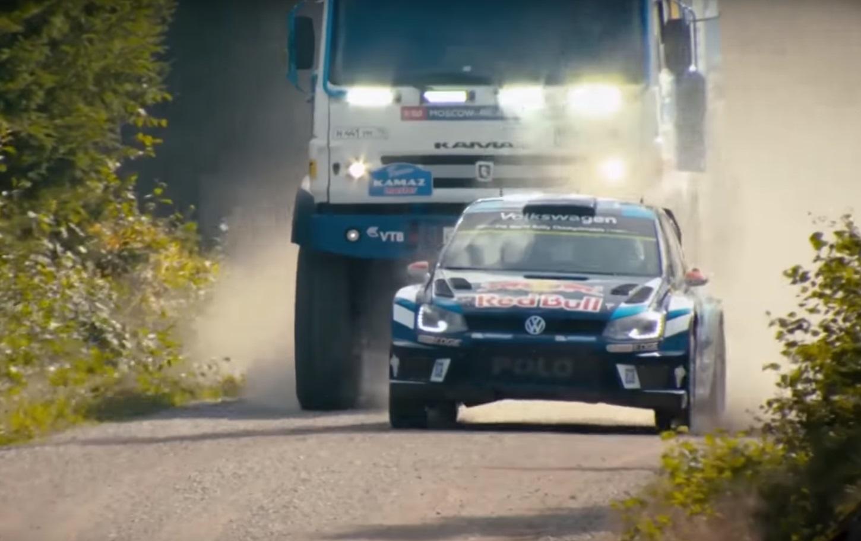 Imagem de Animal: Red Bull coloca um carro de rally para correr contra um caminhão no tecmundo