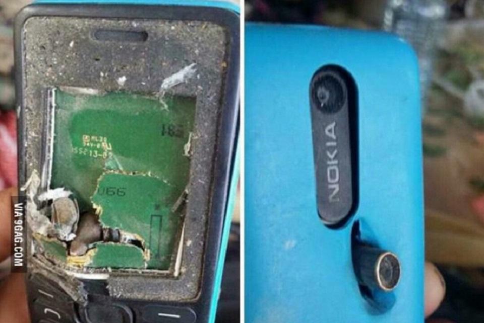 Imagem de A lenda continua viva: Nokia salva vida de homem ao segurar uma bala no tecmundo