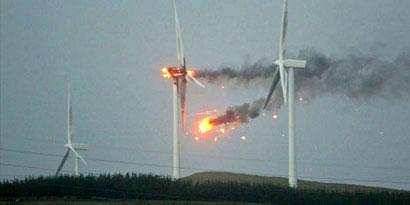 Imagem de Turbina eólica de US$ 3 milhões explode ao captar ventos poderosos no site TecMundo