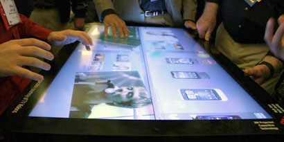 Imagem de 3M exibe mesa touchscreen de 46 polegadas no site TecMundo