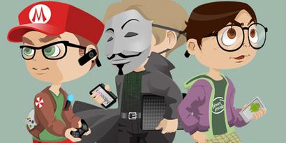 Imagem de Erro 404: Os tipos de nerds [ilustração] no site TecMundo