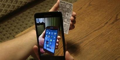 Imagem de Aplicativo permite que você veja o Galaxy Note 2 em sua mão no site TecMundo