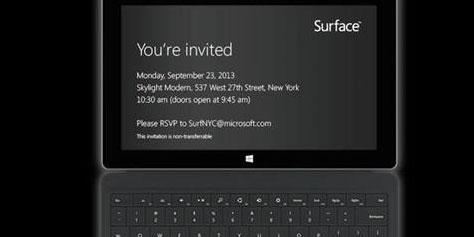Imagem de Microsoft apresentará Surface 2 no dia 23 de setembro no site TecMundo