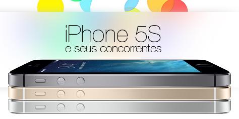 Imagem de Comparação: iPhone 5S contra os principais smartphones do mercado no site TecMundo