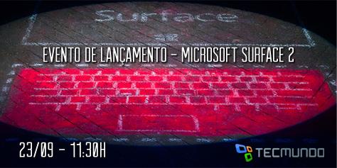 Imagem de Evento Microsoft: cobertura ao vivo do anúncio do Surface 2 no site TecMundo