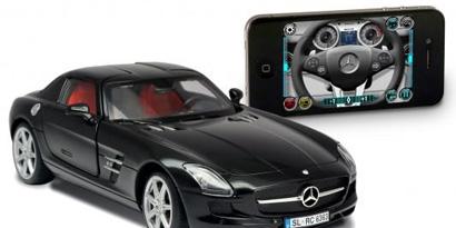 Imagem de Já imaginou pilotar uma Mercedes-Benz SLS AMG com um iPhone? no site TecMundo