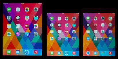 Imagem de iPad mini com tela Retina tem cores menos vibrantes do que o iPad Air no site TecMundo