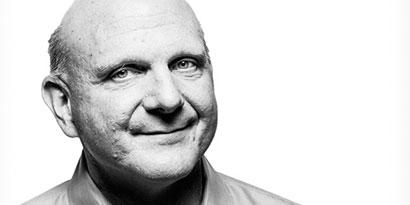 Imagem de Ballmer revela algumas de suas principais influências como CEO da Microsoft no site TecMundo