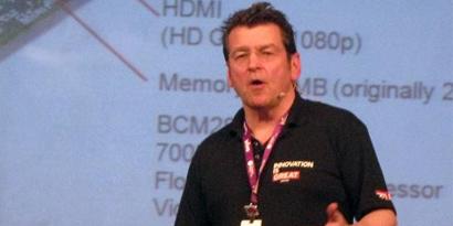 Imagem de Criador do Raspberry Pi palestra na Campus Party 2013 no site TecMundo