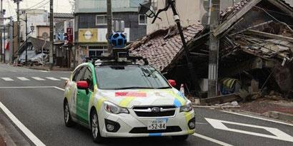 Imagem de Google Street View permite explorar as proximidades de Fukushima no site TecMundo