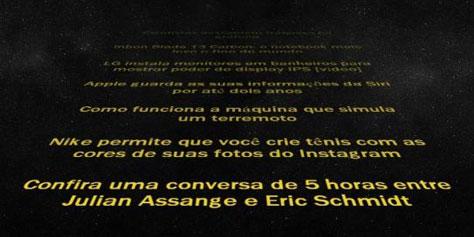 Imagem de Acompanhe as notícias dos seus feeds RSS ao melhor estilo de Star Wars no site TecMundo