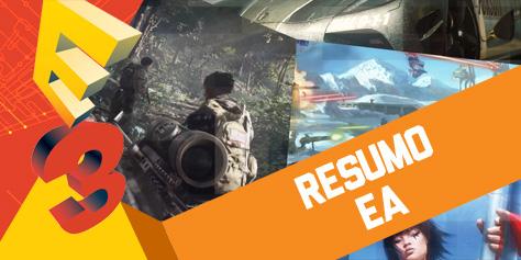 Imagem de Resumo: conferência da Electronic Arts na E3 2013 [vídeo] no site TecMundo