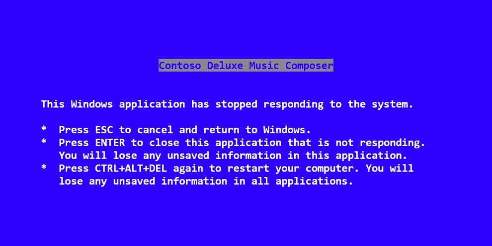 """Imagem de Steve Ballmer escreveu a mensagem original da """"tela azul da morte"""" no site TecMundo"""