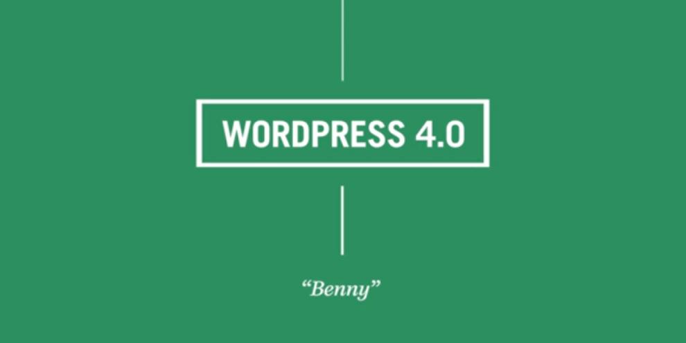 """Imagem de WordPress 4.0 já está disponível e se chama """"Benny"""" no site TecMundo"""
