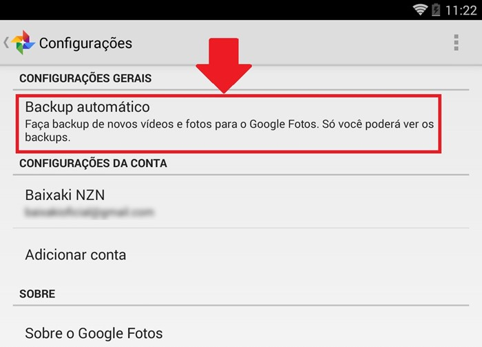 onde fica o backup do whatsapp no android