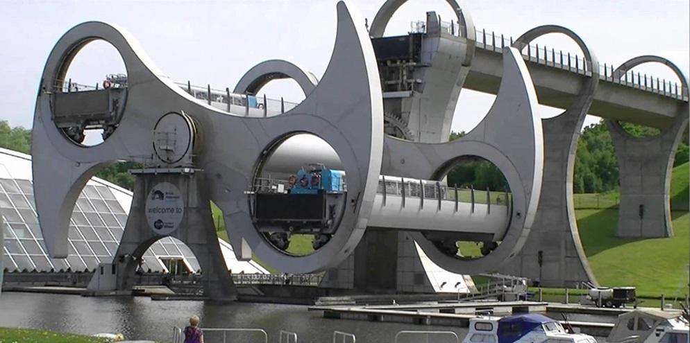 Imagem de Roda de Falkirk: conheça o primeiro elevador giratório de barcos do mundo no site TecMundo