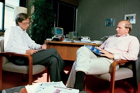 Imagem de Bill Gates e Ballmer romperam amizade por Nokia e Windows Vista no site TecMundo