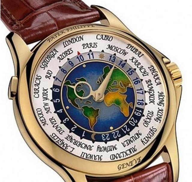 b8f62bd90bc Acredita-se que apenas uma unidade do Patek Philippe Platinum World Time  foi produzida e