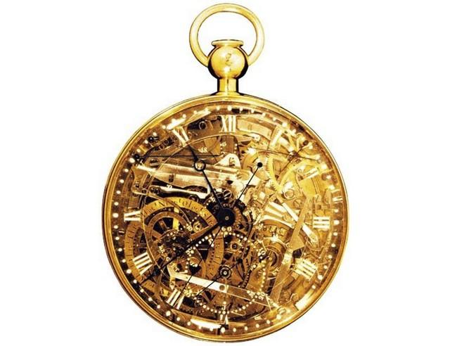 15ac1a7d9d3 O relógio conta com todas as funções conhecidas para a época e sua  estrutura é feita em ouro. O intrincado mecanismo interno fica à mostra