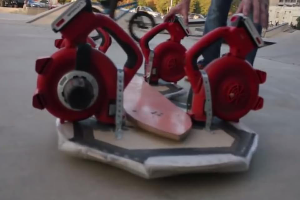 Imagem de Sopradores de folhas dão vida a este novo skate voador; assista no site TecMundo