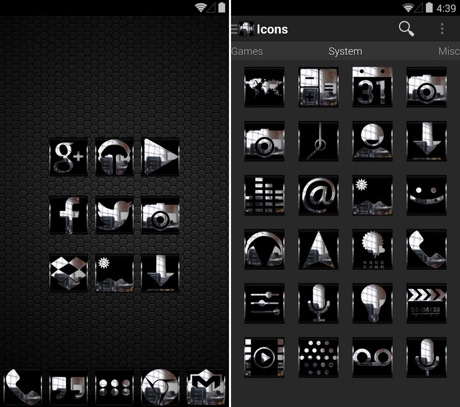 pack de icones cromados para windows 7