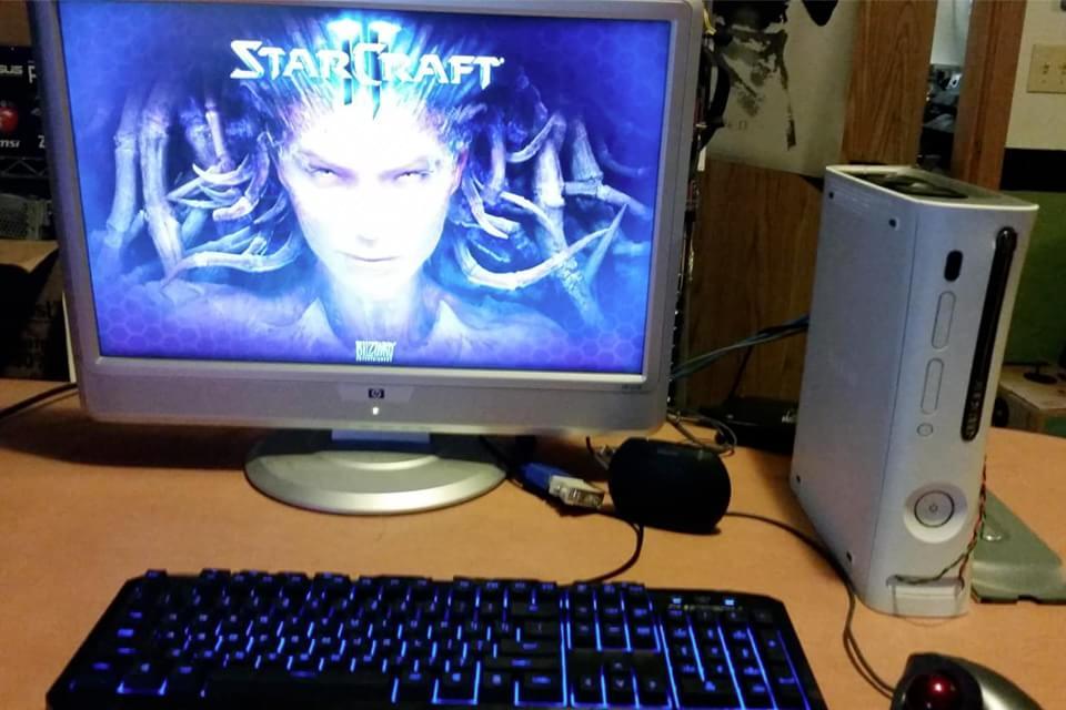 Imagem de Modder transforma Xbox 360 antigo em um computador no site TecMundo