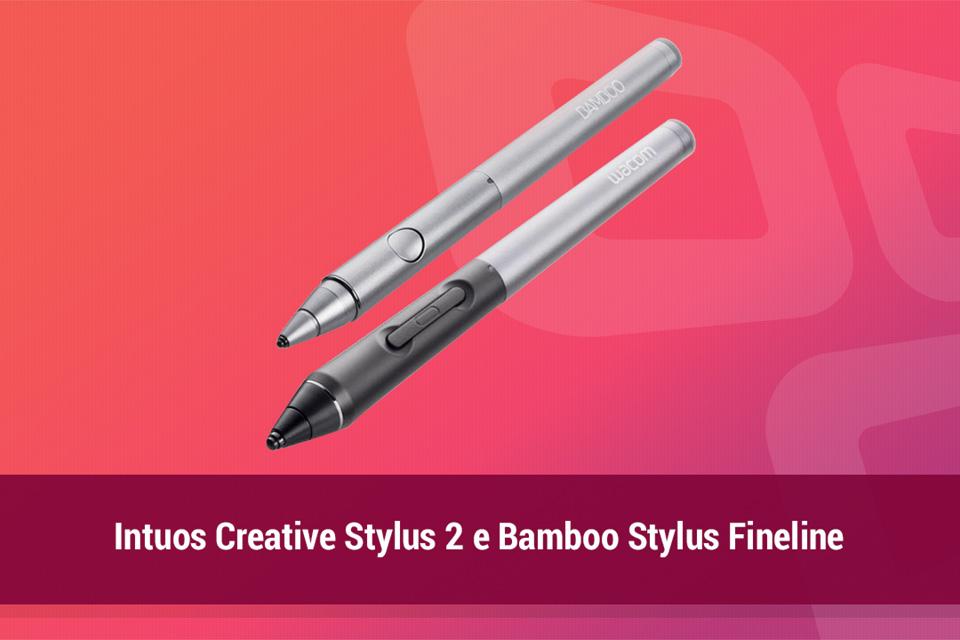 Imagem de Análise: canetas Intuos Creative Stylus 2 e Bamboo Stylus Fineline no site TecMundo