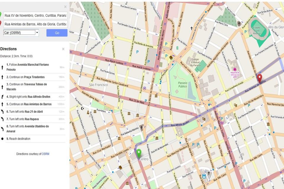 Imagem de OpenStreetMap finalmente ganha recurso de rotas e direções no site TecMundo