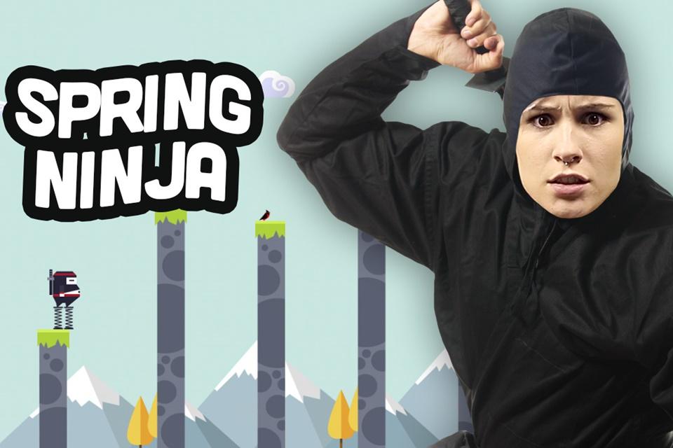 Imagem de Jogatina de Bolso: vamos pular com o simpático e gordinho Spring Ninja no site TecMundo