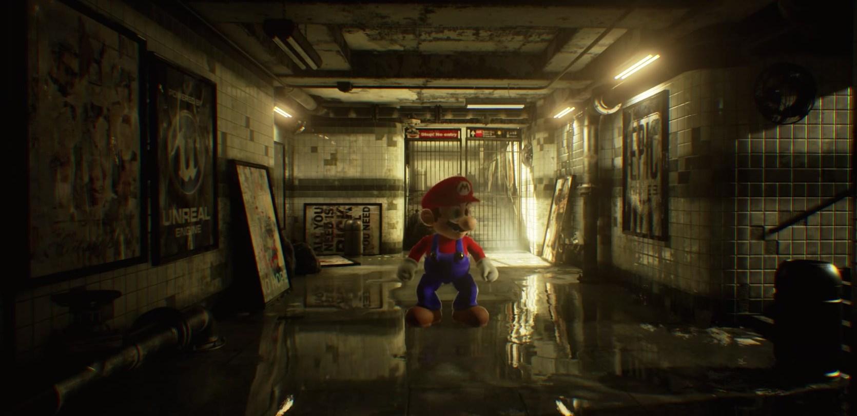 Imagem de Artista mostra como seria Mario 64 com o poder de fogo da Unreal Engine 4 no tecmundo