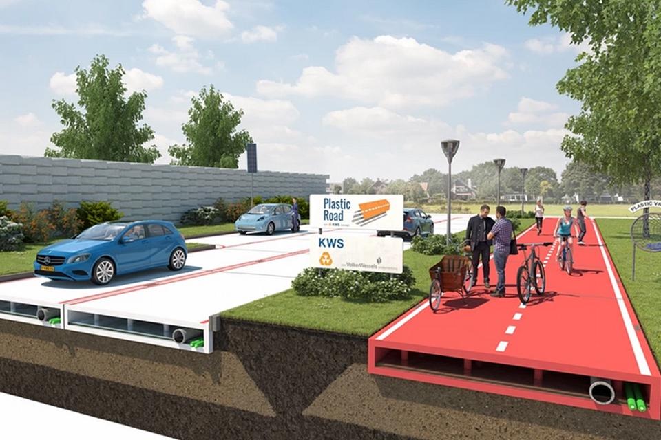 Imagem de Adeus, asfalto: ruas de plástico que geram energia podem ser o futuro no tecmundo