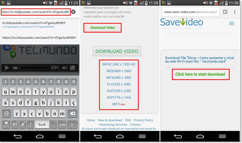 Android como baixar vdeos do youtube e reproduzi los em modo executado esse comando o site save video ser aberto ateno clique sobre o primeiro link download video aguarde por trs segundos e selecione a ccuart Choice Image