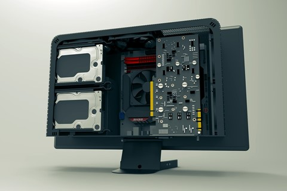 Imagem de Gabinete que se 'esconde' atrás do monitor quer liberar espaço na sua mesa no tecmundo