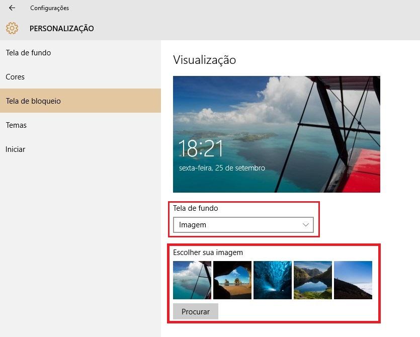 Windows 10: como alterar as fotos da tela de bloqueio