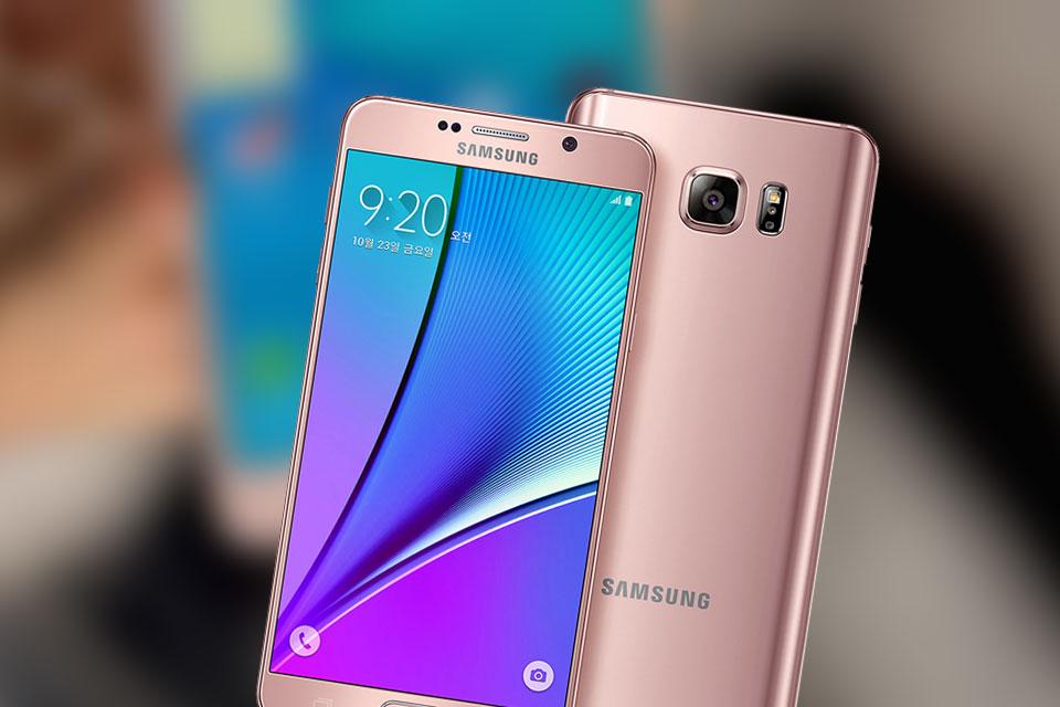 Imagem de Galaxy Note 5 ganha duas novas cores: titânio e ouro rosado no tecmundo