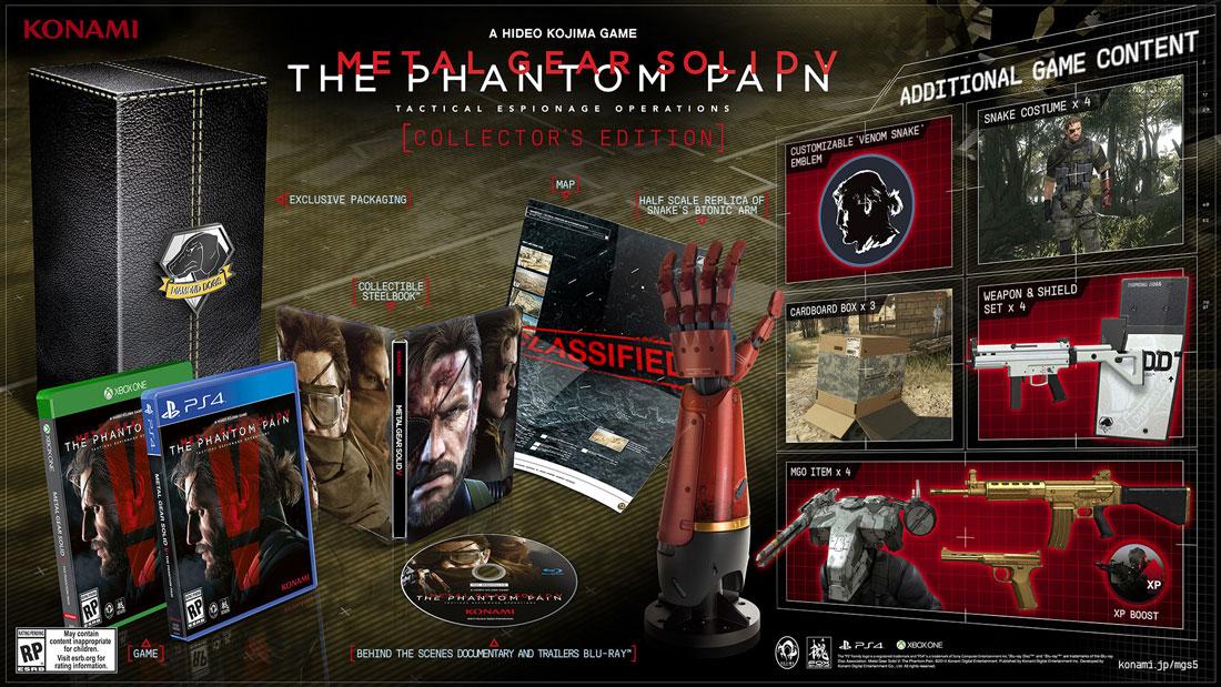 """Entre eles está a reprodução da mão biônica usada por Punished """"Venom""""  Snake, que somente no Japão foi oferecida aos jogadores em sua escala real. f70171c513"""