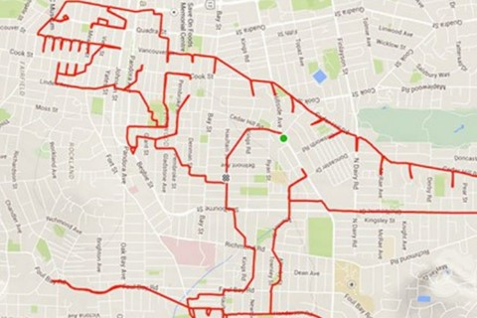 Imagem de Ciclista-artista usa o GPS para fazer desenhos divertidos nos mapas no tecmundo