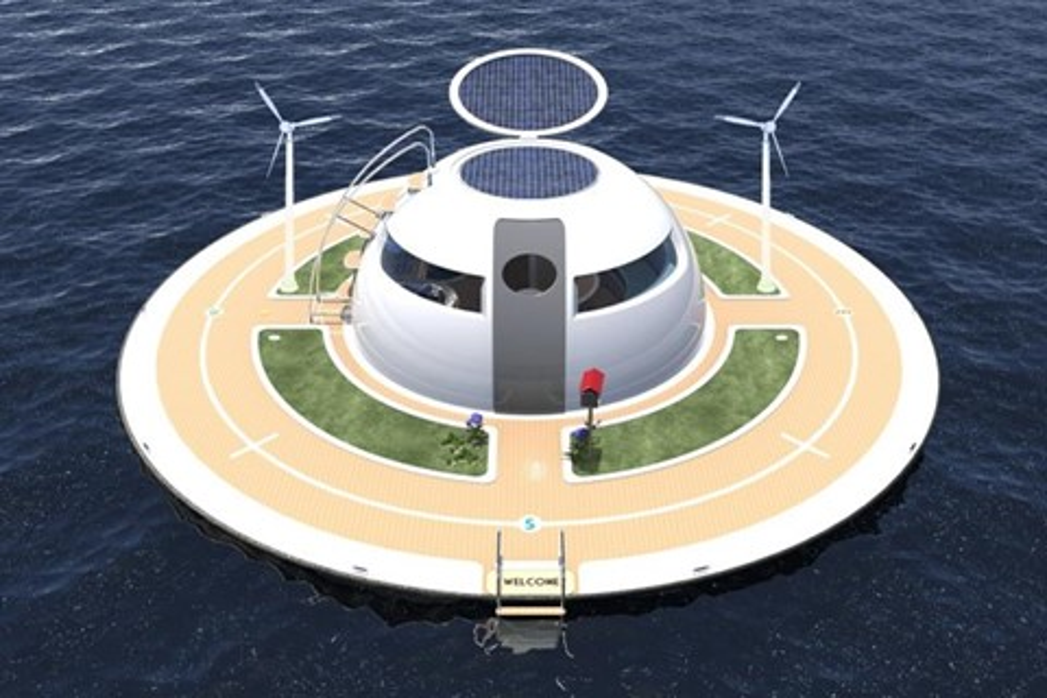Imagem de U.F.O: que tal morar nessa curiosa casa flutuante e navegar pelos mares? no tecmundo