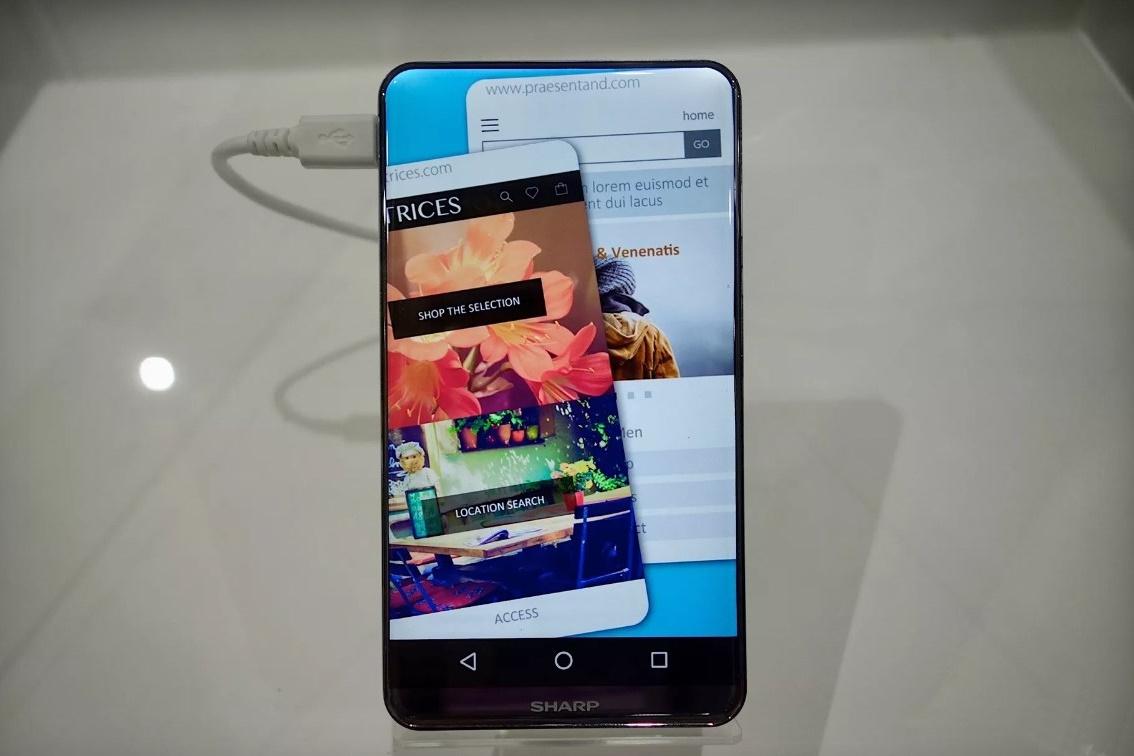 Imagem de Incrível: Sharp mostra celular com tela de bordas e cantos arredondados no tecmundo