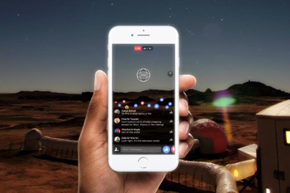 Imagem de Facebook faz primeiro vídeo ao vivo em 360º em estação de estudo de Marte no tecmundo