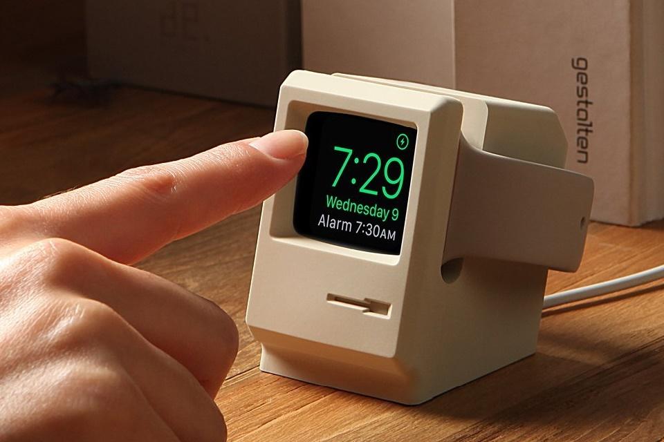 Imagem de Suporte para Apple Watch transforma relógio em micro Macintosh no tecmundo