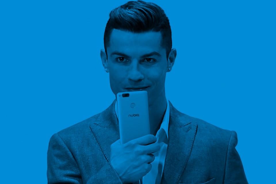 Imagem de Cristiano Ronaldo mostra o ZTE nubia Z17 antes da sua revelação oficial no tecmundo